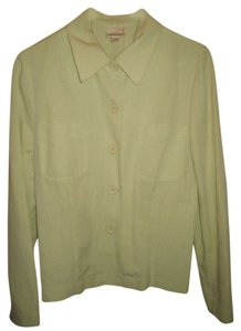 Karen Kane Linen Button Down Shirt Green