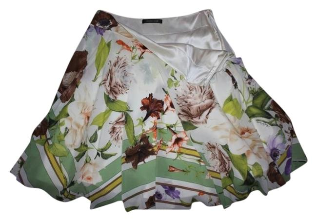 Roberto Cavalli short dress Beige with multi floral colors on Tradesy