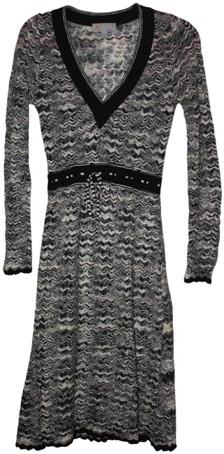 Missoni short dress Multi black/white on Tradesy