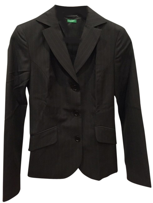 United Colors of Benetton United Colors of Benetton business grey pinstripe suit jacket