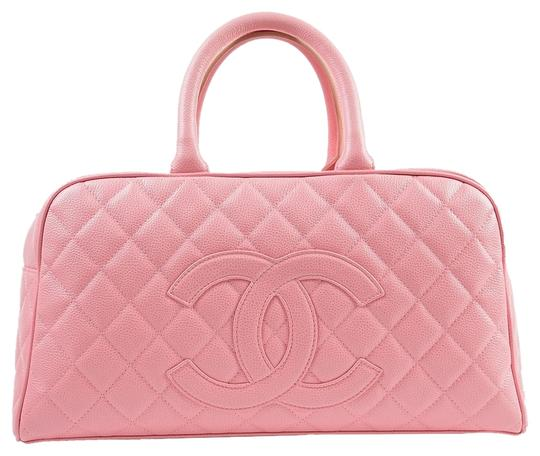 Preload https://item2.tradesy.com/images/chanel-quilted-caviar-bowling-with-gold-hardware-pink-leather-tote-4093156-0-0.jpg?width=440&height=440