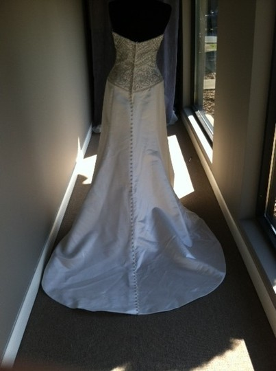 Casablanca Diamond White A015 Feminine Wedding Dress Size 10 (M)
