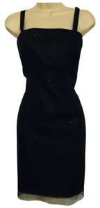 Liz Claiborne short dress Black New Knee-length Sequins & Lace Trim 100% Linen on Tradesy