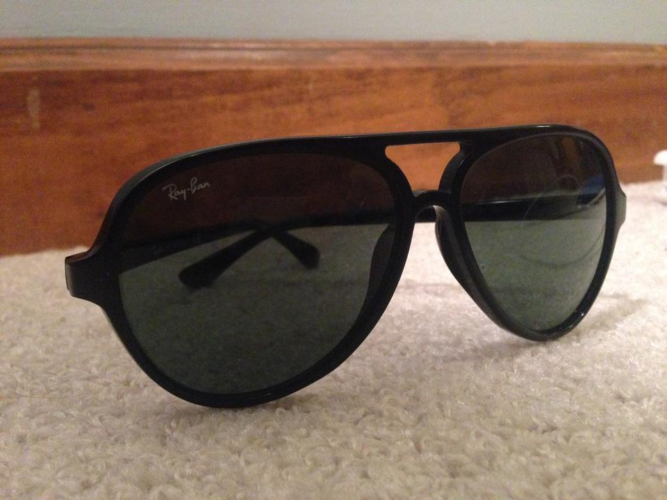 6e68bb67640a Ray-Ban Black Aviator Style Plastic Frame with Case. Sunglasses ...