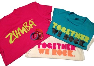 Zumba Fitness T Shirt White, Blue or Fuscia