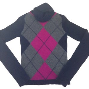 Theory 100% Cashmere Argyle Sweater