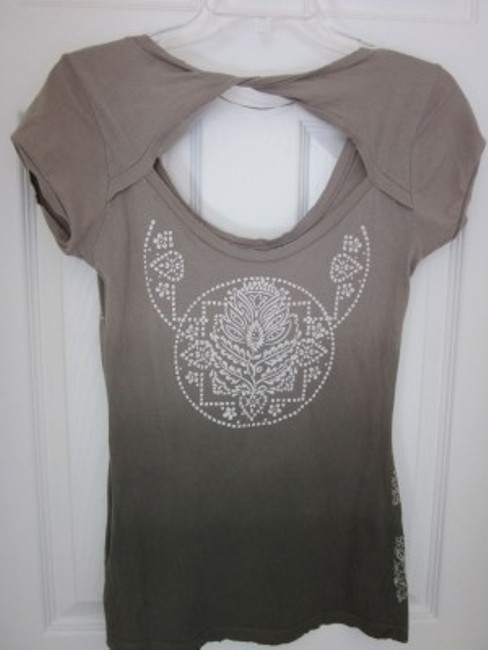 Guess T Shirt Blended Tan to Dark Green