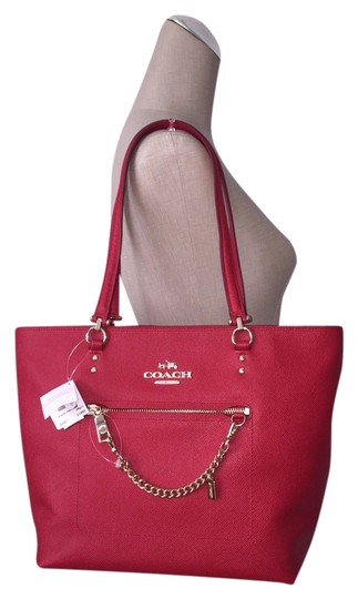 Preload https://item2.tradesy.com/images/coach-town-car-chain-leather-tote-4093756-0-0.jpg?width=440&height=440