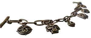Ralph Lauren New sterling silver charm bracelet (antique silver).