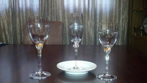 Set Of 6 Gorham Crystal Flute Champagne Glasses