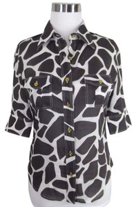 Craig Taylor Button Down Shirt Black Cream
