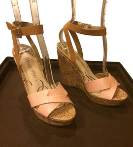 Sam & Libby Nude Wedges