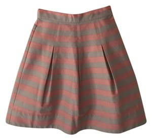 Anthropologie Skirt Pink And Beige