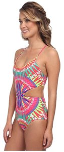 Mara Hoffman Mara Huffman reversible lace up one piece swimsuit Supernova red