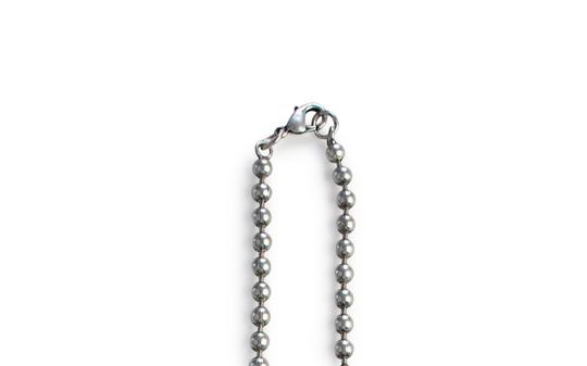 Guess Necklace Stainless Steel Pull-style Ball Chain with Dual Cross Pendant