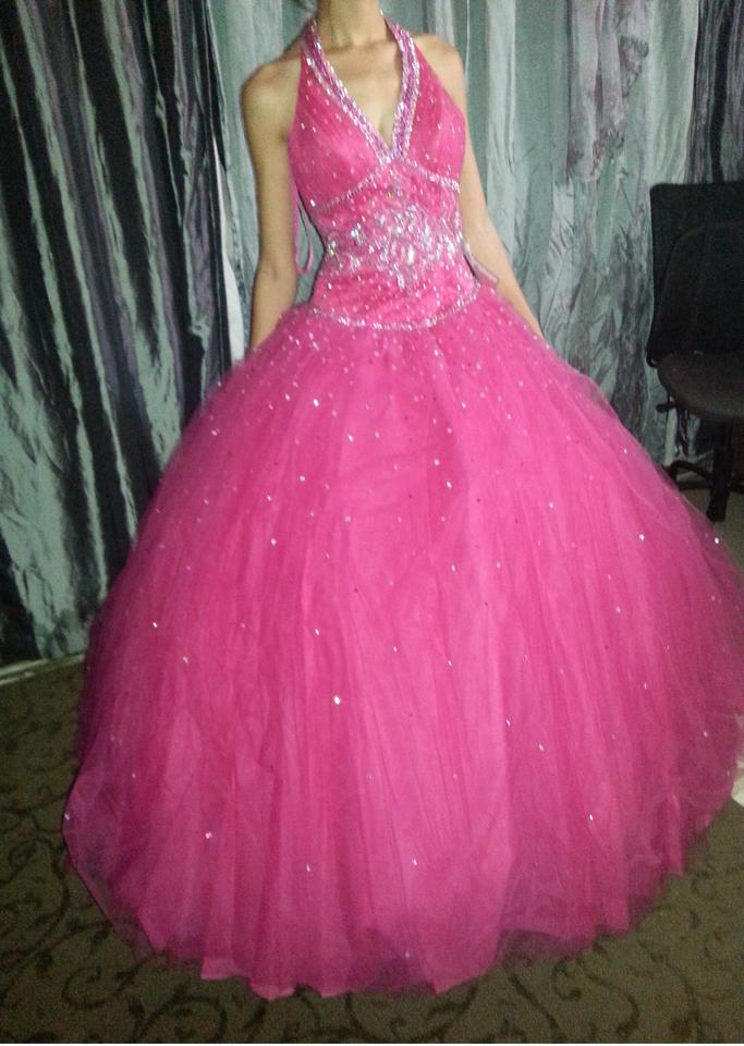 Hot Pink Organza Polyester Nylon Beauty Queen