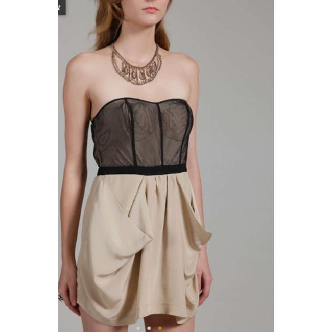 Twelfth St. by Cynthia Vincent Playsuit Mesh Silk Sweetheart Boming Lined Pleated Pocket Dress
