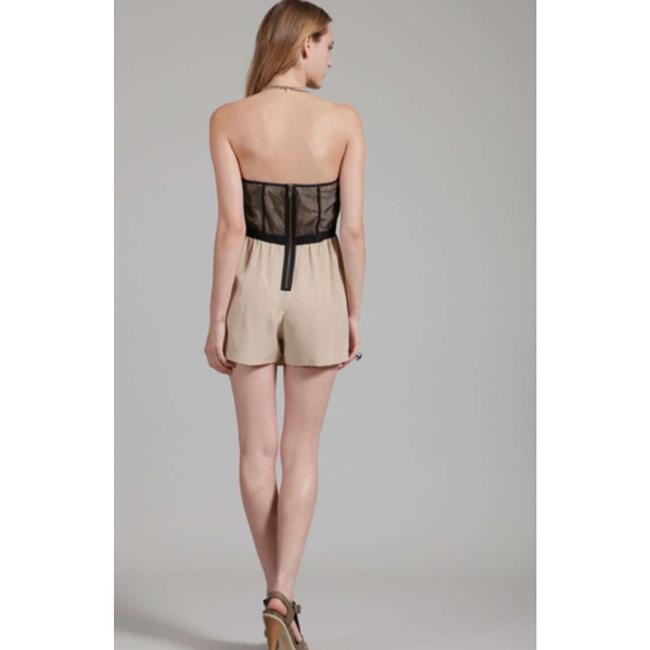 Twelfth St. by Cynthia Vincent Jumper Playsuit Mesh Silk Sweetheart Boming Lined Pleated Pocket Dress