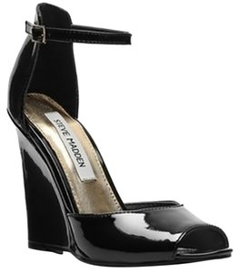 Steve Madden Wedge Heel Black Patent Wedges