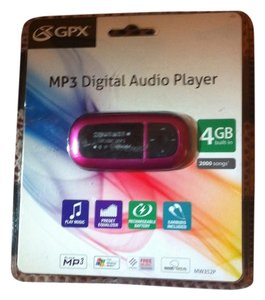 GPX MP3 Digital Audio Player Brand New UN-OPENED BOX/NEVER USED 4GB HOLDS 2000 SONGS(SAYS ON BOX) (EAR BUDS/ USB CABLE/RECHARGEABLE BATTERY INCLUDED) Retail $49.99