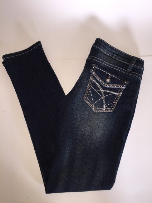 Faded to Blue FTB Skinny Jeans-Distressed