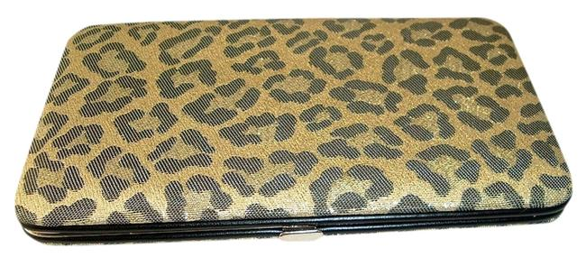 Item - Clutch Women's Flat Hard Case - Gold Leopard. Wallet