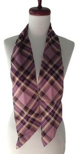 Harold Powell Harold Powell Purple Plaid Silk Scarf