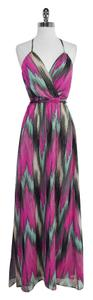 Maxi Dress by MILLY Print Silk Halter Maxi