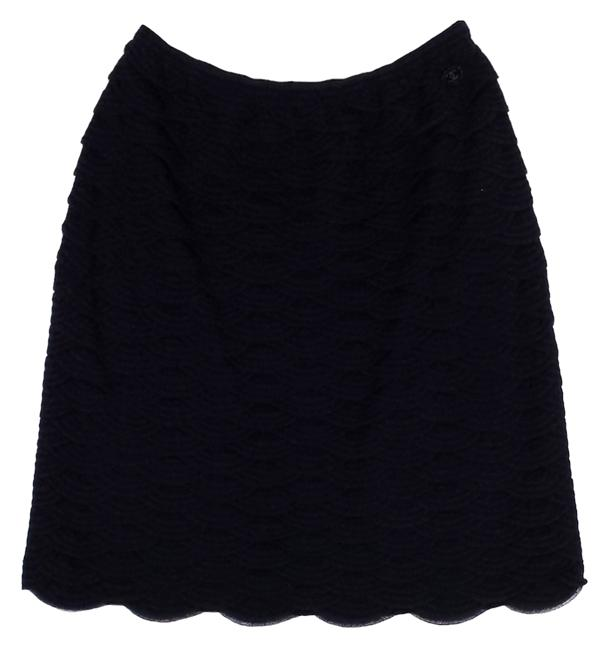Preload https://item4.tradesy.com/images/chanel-navy-and-black-scalloped-cotton-blend-size-6-s-28-4096138-0-0.jpg?width=400&height=650