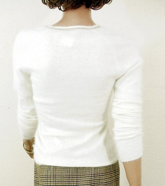 The Limited Angora Rhinestones Cream Sweater