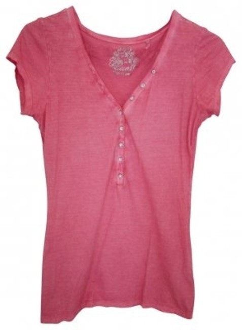 Preload https://item4.tradesy.com/images/guess-pink-34-jeweled-button-down-tee-shirt-size-8-m-40963-0-0.jpg?width=400&height=650