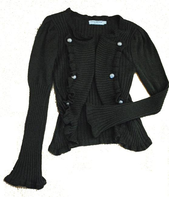 Alloy Army Military Buttons Bell Sleeves Cardigan