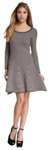 Madison Marcus Skater Fitted Flared Wool Wool Crew Neck Long Sleeve Small Designer New Fall Winter Dress