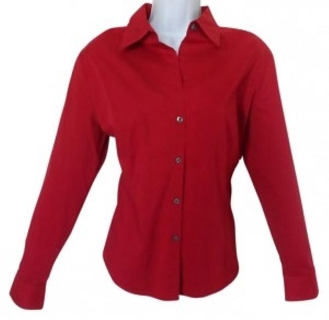 Preload https://item2.tradesy.com/images/old-navy-red-perfect-fit-stretch-button-down-top-size-16-xl-plus-0x-40966-0-0.jpg?width=400&height=650