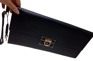 Salvatore Ferragamo Black Clutch
