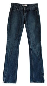 Habitual Zip Ankle Motorcycle Straight Leg Jeans-Medium Wash