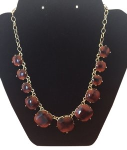 Tortoise shell stone statement necklace