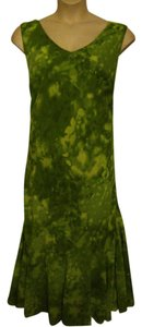 Lime Green Maxi Dress by Dana Kay Sleeveless Full Length Sheath