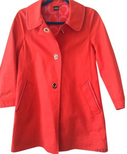 Coach Leather Patent Leather Coral Jacket