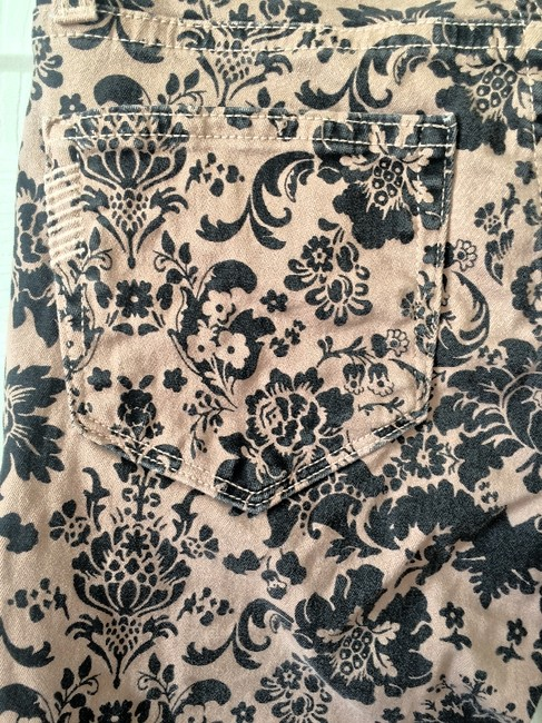 Paige Tan and Black Pattern Coated Skinny Jeans Size 24 (0, XS) Paige Tan and Black Pattern Coated Skinny Jeans Size 24 (0, XS) Image 2