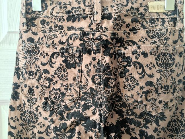 Paige Tan and Black Pattern Coated Skinny Jeans Size 24 (0, XS) Paige Tan and Black Pattern Coated Skinny Jeans Size 24 (0, XS) Image 3