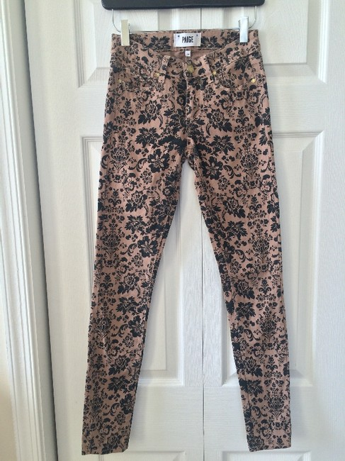 Paige Tan and Black Pattern Coated Skinny Jeans Size 24 (0, XS) Paige Tan and Black Pattern Coated Skinny Jeans Size 24 (0, XS) Image 4