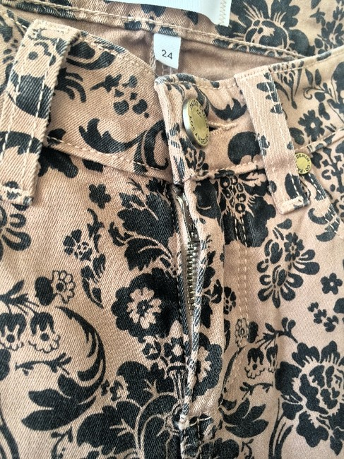 Paige Tan and Black Pattern Coated Skinny Jeans Size 24 (0, XS) Paige Tan and Black Pattern Coated Skinny Jeans Size 24 (0, XS) Image 5
