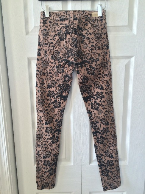 Paige Tan and Black Pattern Coated Skinny Jeans Size 24 (0, XS) Paige Tan and Black Pattern Coated Skinny Jeans Size 24 (0, XS) Image 6
