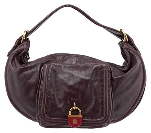 Marc by Marc Jacobs Leather Gold Hardware Lock Shoulder Bag