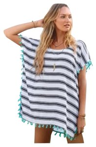 All You Need Is Love Striped Cover Up