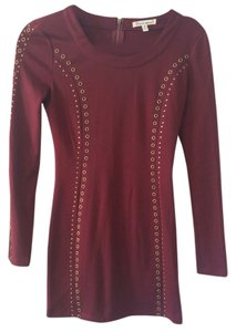 Lucca Couture short dress Burgundy on Tradesy