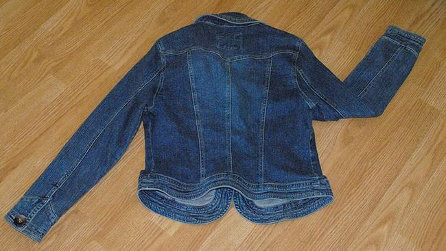 modcloth/Live A Little Blazer Jean Tortoise Buttons Dark med. denim Womens Jean Jacket