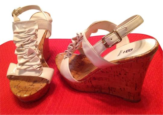 Bakers White patent Wedges
