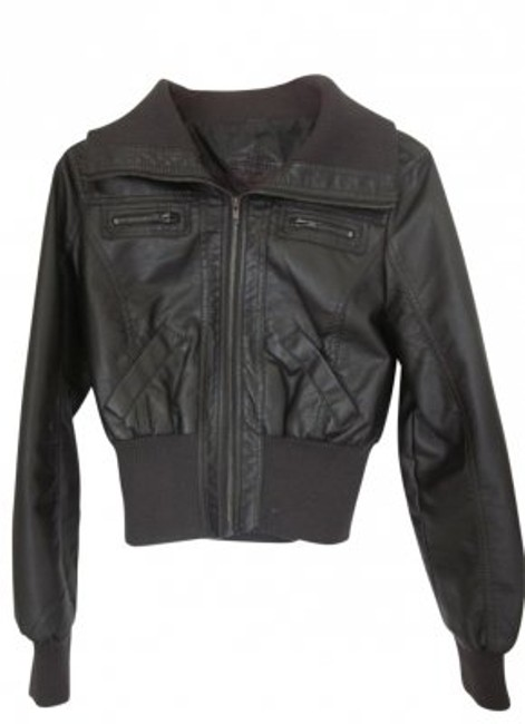 Preload https://img-static.tradesy.com/item/40990/jou-jou-dark-brown-bomber-leather-jacket-size-4-s-0-0-650-650.jpg